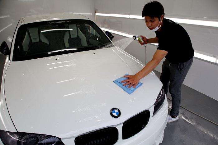 BMW E82/135i入庫 & 磨き・ガラスコーティング施工!!