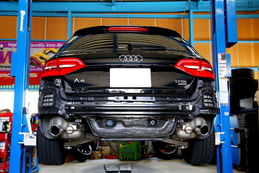 Audi A4/B8Avant & バンパー交換+ペイント+コーティング施工!!