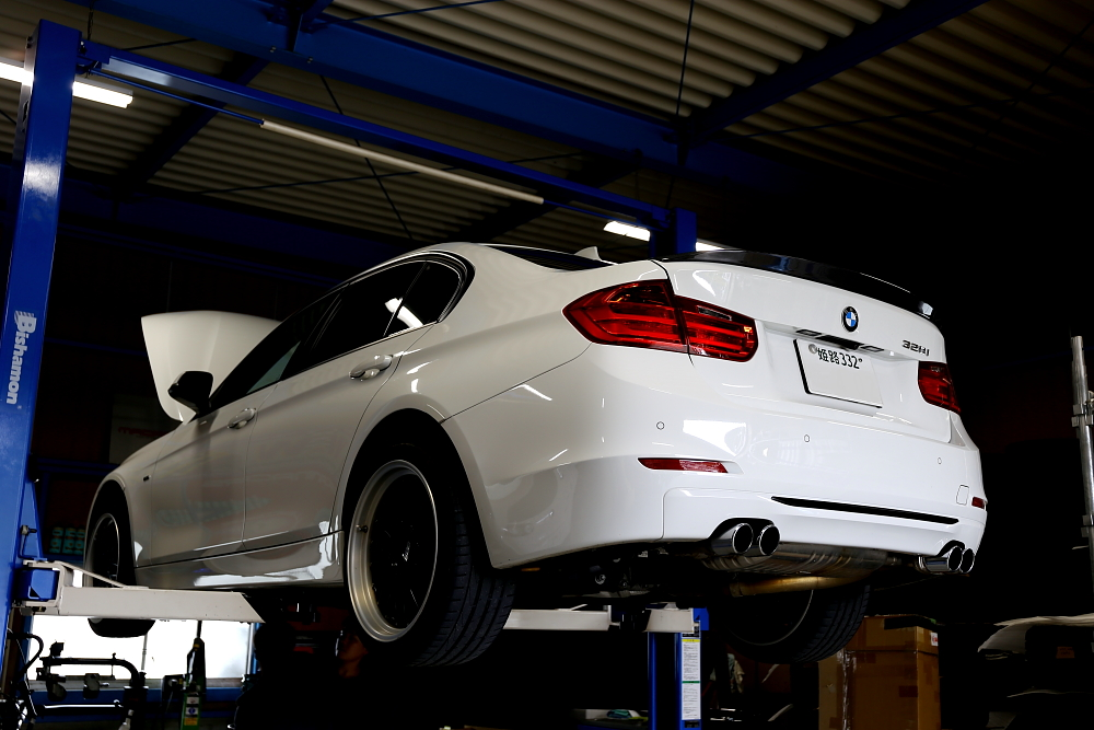 BMW F30/328 & エンジンオイル交換+タイヤ交換+GYEON洗車!!