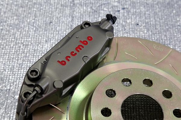 限定品 Rdd製 Brembo 4potモデナキャリパー328mm1ピースKIT!!