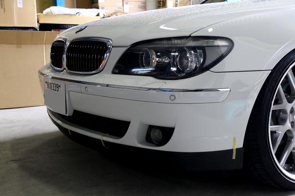 BMW E65/750i & F/スポイラー+USヘッドライト加工+BELLOF LED+プロテクションフィルム施工!!