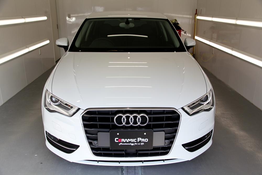 Audi A3/8V & F/グリルペイント+プロテクション・フィルム+低ダストパッド+コーティング施工!!