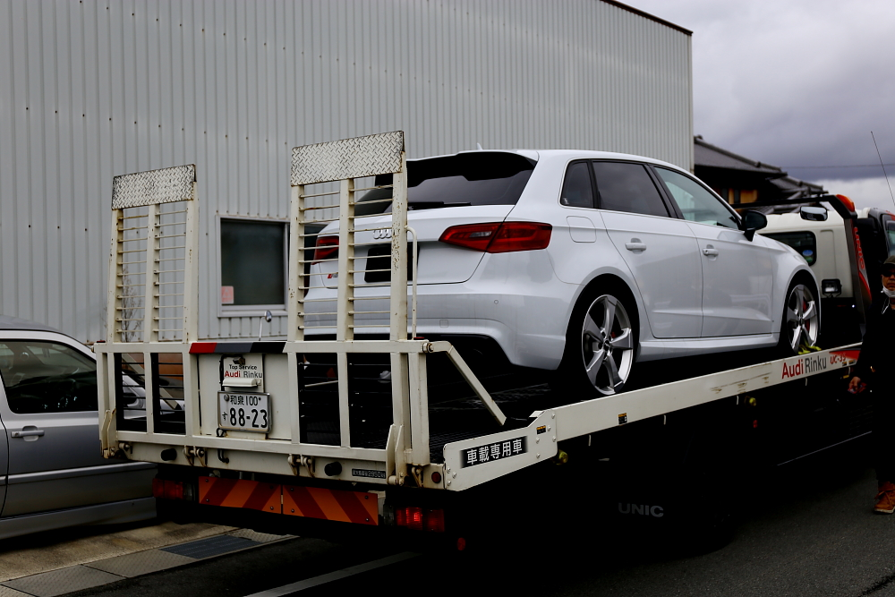 Audi RS3/8V SB & 低ダストパッド+オイル交換+メンテナンス施工!!