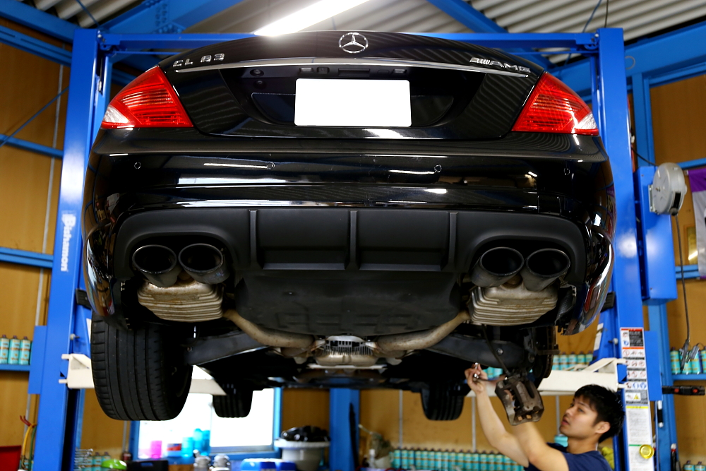 M-BENZ CL63/W216 & アーム交換+アライメント調整!!