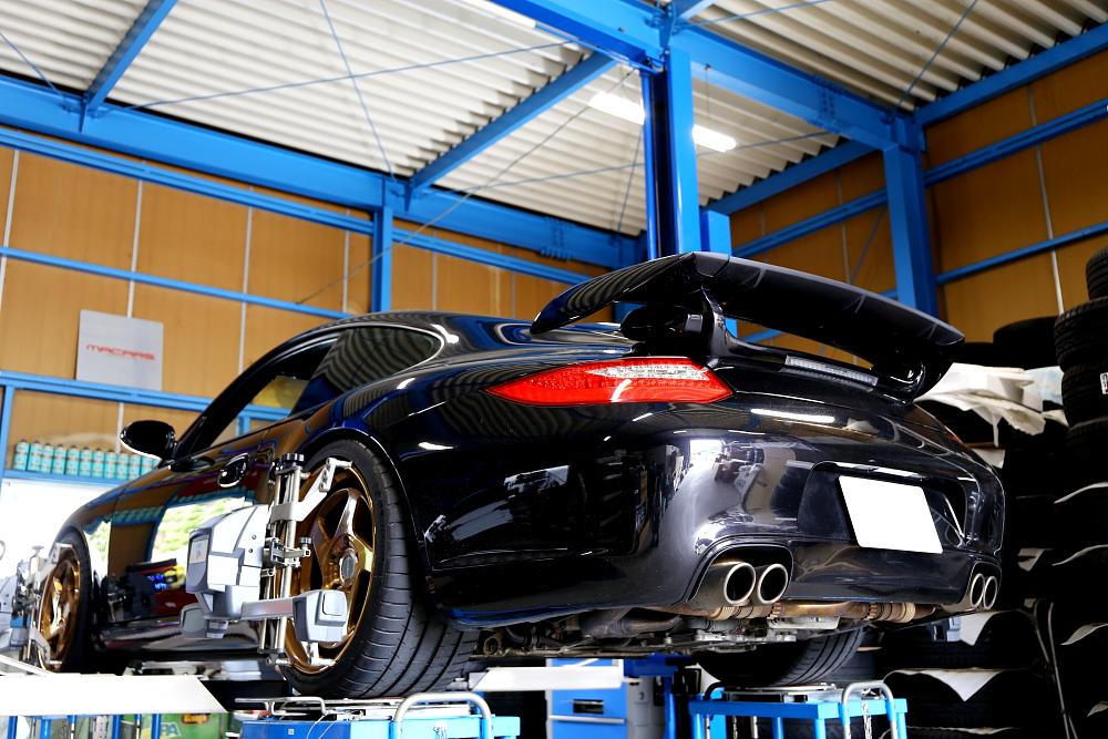 Porsche911/997カレラS & 車輌買取+アライメント調整!!