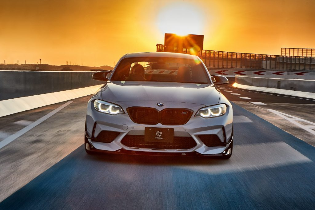BMW F87/M2 コンペティション  & 3D Design新作フルエアロ装着+オリジナルブルーミラー!!