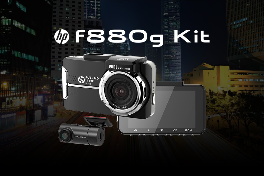 【ドライブレコーダー新発売】hp F880G Kit & BREX DRIVE RECORDER N2 BCC500!!