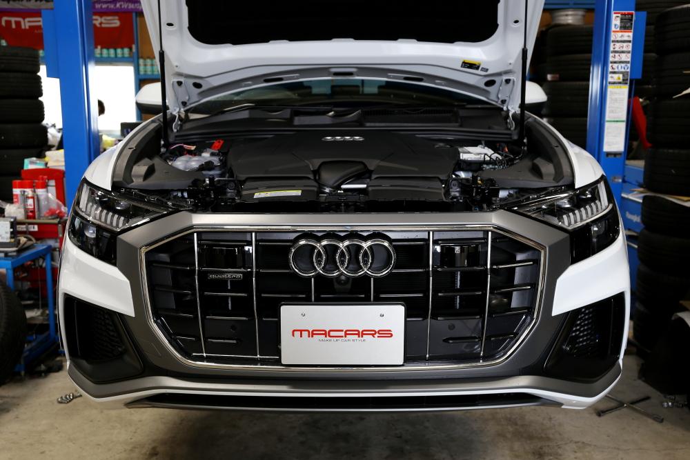Audi Q8 S-LINE & カスタムペイント+カーボンラッピング・フィルム施工+9Hコーティング施工!!
