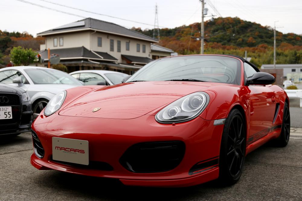 Porsche 987/ボクスター・スパイダー & ブレーキ計測+メッシュホース交換!!
