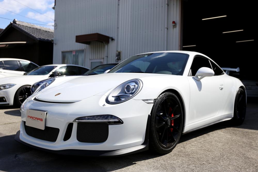 Porsche 991/GT3 & エンジンオイル交換!!