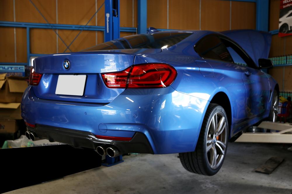BMW F32/420i & オイル交換+タイヤ交換+スペーサー!!