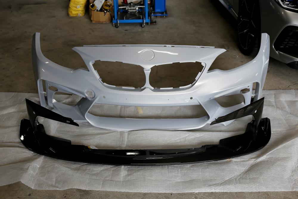 BMW F87N M2Competition & 3D Designフロントバンパースポイラー!!